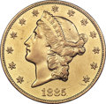 Liberty Double Eagles, 1885 $20 -- Harshly Cleaned -- PCGS Genuine. AU Details....