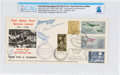 Explorers:Space Exploration, Neil Armstrong Signed Indian Aerial Post Golden Jubilee Cover Directly from The Armstrong Family Collection™, CAG Certified....