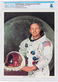 Explorers:Space Exploration, Neil Armstrong Autopen-Signed White Spacesuit Color Photo Directly From The Armstrong Family Collection™, CAG Certified. ...