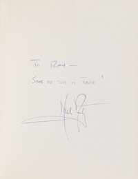 Neil Armstrong Signed Book: Space Pioneer by Paul Westman, with Humorous Inscription, Direct