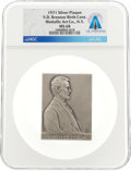 Explorers:Space Exploration, Abraham Lincoln by Victor D. Brenner 1971 Silver Plaque MS68 NGC, Directly From The Armstrong Family Collection™, CAG ...