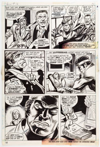 George Tuska and Billy Graham Hero For Hire #12 Page 10 Original Art (Marvel, 1973)