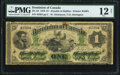 Canadian Currency, DC-2d $1 1870 PMG Fine 12 Net.. ...
