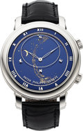 Timepieces:Wristwatch, Patek Philippe, Very Fine Ref. 5102G, Celestial Sky Chart, 18kWhite Gold, Circa 2005. ...