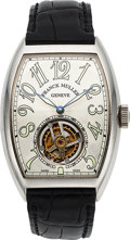 Timepieces:Wristwatch, Franck Muller, Master Imperial Tourbillon, Ref. 7851T, 18k White Gold, No. 19, Circa 2000. ...