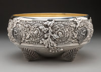 A Tiffany & Co. Partial Gilt Silver Bowl, New York, 1907-1947 Marks: TIFFANY & CO., 8525 MAKERS 8535, STERLING...