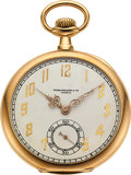 Timepieces:Pocket (post 1900), Patek Philippe Gold Watch For Mermod Jaccard & Co. . ...