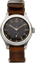 "Timepieces:Wristwatch, Cyma, Rare British Military WWII ""Dirty Dozen"" Watch, StainlessSteel, Manual Wind, Circa 1940s. ..."