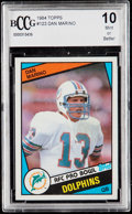 Football Cards:Singles (1970-Now), 1984 Topps Dan Marino #123 BCCG 10. ...