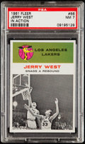 Basketball Cards:Singles (Pre-1970), 1961 Fleer Jerry West (In Action) #66 PSA NM 7....