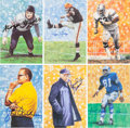 Football Collectibles:Others, 1980's-2000's Goal Line Art Pro Football Hall of Fame Signed Lot of 80+. ...