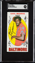 Autographs:Sports Cards, Signed 1969 Topps Earl Monroe #80 SGC Authentic....