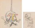 Animation Art:Production Drawing, The Big Bad Wolf Animation Drawings Group of 2 (Walt Disney,1934).... (Total: 2 Original Art)
