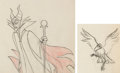 Animation Art:Production Drawing, Sleeping Beauty Maleficent and Diablo Animation Drawings Group of 2 (Walt Disney, 1959)... (Total: 2 Original Art)