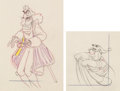 Animation Art:Limited Edition Cel, Peter Pan Captain Hook and Mr. Smee Matched Animation Drawings Group of 2 (Walt Disney, 1953). ... (Total: 2 Original Art)