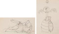 Animation Art:Production Drawing, Toby Tortoise Returns Toby and Max Animation Drawings Groupof 2 (Walt Disney, 1936).... (Total: 2 Original Art)