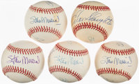 1980's Terry Moore, Stan Musial & Enos Slaughter Multi-Signed Baseballs Lot of 5 from The Enos Slaughter Collect...