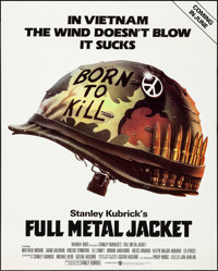 "Full Metal Jacket (Warner Brothers, 1987). Rolled, Very Fine. Poster (40"" X 50"") DS Advance, Phillip Castle Ar..."
