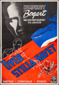 """Movie Posters:War, Across the Pacific (Warner Brothers, 1943). Folded, Fine/Very Fine.Swedish One Sheet (27.5"""" X 39.5""""). War.. ..."""