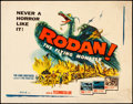 "Movie Posters:Science Fiction, Rodan! The Flying Monster (DCA, 1957). Rolled, Fine+. Half Sheet (22"" X 28""). Science Fiction.. ..."