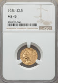 Indian Quarter Eagles: , 1928 $2 1/2 MS63 NGC. NGC Census: (4710/3176). PCGS Population: (3321/2160). MS63. Mintage 416,000. ...
