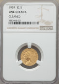 Indian Quarter Eagles, 1929 $2 1/2 -- Cleaned -- NGC Details. Unc. NGC Census: (228/20104). PCGS Population: (404/13230). MS60. Mintage 532,00...