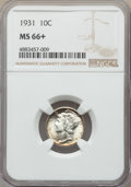 1931 10C MS66+ NGC. NGC Census: (41/1 and 1/0+). PCGS Population: (42/4 and 3/0+). CDN: $210 Whsle. Bid for problem-free...