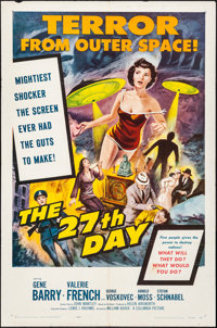 """The 27th Day (Columbia, 1957). Folded, Fine+. One Sheet (27"""" X 41""""). Science Fiction"""