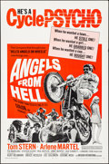"""Movie Posters:Exploitation, Angels from Hell (American International, 1968). Folded, VeryFine-. One Sheet (27"""" X 41""""). Exploitation.. ..."""