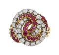 Estate Jewelry:Rings, Diamond, Ruby, Platinum, Gold Ring, Cartier Th...