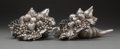 Silver & Vertu:Other Silver, A Pair of Italian Silver-Clad Cornucopia, Florence, Italy, post-1944. Marks: R GR., 160, 925, *871 FI. 5-1/4 x 11-3/4 x ... (Total: 2 Items)