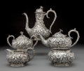 Silver & Vertu, A Five-Piece S. Kirk & Son, Inc. Repoussé Pattern Silver Tea and Coffee Service, Baltimore, Maryland, circa 1924. Marks: S... (Total: 5 )