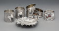 Silver & Vertu:Hollowware, A Group of Five Gorham Mfg. Co. Mixed Metal and Silver Table Articles, Providence, Rhode Island. Marks: (various). 1-3/8 x 4... (Total: 5 )