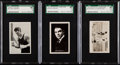 Boxing Cards:General, 1922-34 Boxing Jack Dempsey SGC Graded Trio (3)....