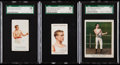 Boxing Cards:General, 1887-1910 N28, Ogden's & Mecca Charlie Mitchell SGC Graded Trio(3). ...