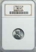 Lincoln Cents: , 1943-D 1C MS67 NGC. NGC Census: (3337/59). PCGS Population: (2417/147). CDN: $140 Whsle. Bid for problem-free NGC/PCGS MS67...