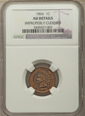 Indian Cents: , 1866 1C -- Improperly Cleaned -- NGC Details. AU. NGC Census: (32/464). PCGS Population: (76/541). CDN: $200 Whsle. Bid for...