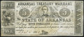 Obsoletes By State:Arkansas, (Little Rock), AR- State of Arkansas $5 Apr. 4, 1862 Cr. 52 Fine-Very Fine.. ...