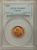Lincoln Cents, 1909 1C MS66 Red PCGS. PCGS Population: (553/77). NGC Census: (186/6). CDN: $200 Whsle. Bid for problem-free NGC/PCGS MS66....
