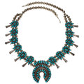 Estate Jewelry:Necklaces, Turquoise, Silver Necklace . ...
