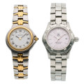 Estate Jewelry:Watches, Lady's Mother-of-Pearl, Stainless Steel Watches . ... (Total: 2 Items)