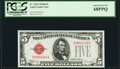 Small Size:Legal Tender Notes, Fr. 1529 $5 1928D Legal Tender Note. PCGS Superb Gem New 68PPQ.. ...