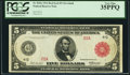 Fr. 835a $5 1914 Red Seal Federal Reserve Note PCGS Very Fine 35PPQ