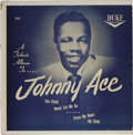 """Music Memorabilia:Recordings, """"A Tribute Album to Johnny Ace"""" EP (Duke 81, 1955). Here's the second of just two EPs released by Ace. Condition: EX 7/ GM-M..."""