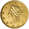 "California Fractional Gold: , 1853 50C Peacock Reverse 50 Cents, BG-413, High R.7--Plugged--NCS.Unc Details. Well struck except for the ""peacock's"" head..."