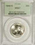 Washington Quarters: , 1940-S 25C MS67 PCGS. Lustrous and essentially brilliant with asolid strike and grand eye appeal. The lower right obverse ...
