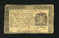 Colonial Notes:New York, New York March 5, 1776 $1/8 Fine. A hard center fold has producedsome separation at the top and bottom along with a small j...