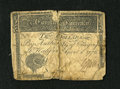 Colonial Notes:North Carolina, North Carolina April 2, 1776 $10 Good. This split note has beenrepaired with thread. An edge notch is also found at top cen...