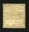 Colonial Notes:Rhode Island, Rhode Island May 22, 1777 $1/6 Very Fine. This is the first time wehave been able to offer this higher denomination fractio...