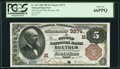 Bucyrus, OH - $5 1882 Brown Back Fr. 467 The Second NB Ch. # (M)3274 PCGS Gem New 66PPQ